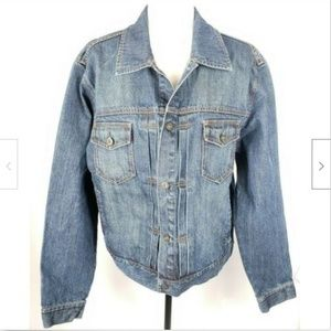 J. Crew Denim Jean Jacket Trucker Style L Cotton